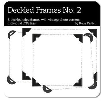 Deckled Frames No. 02 Digital Art - Digital Scrapbooking Kits