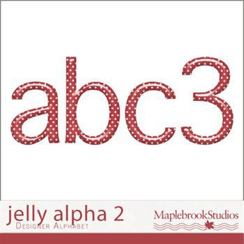 Jelly Alphabet No. 02 Digital Art - Digital Scrapbooking Kits