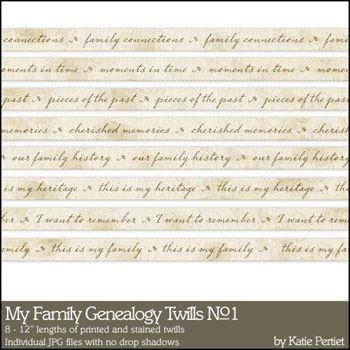 My Family Genealogy Twills No. 01 Digital Art - Digital Scrapbooking Kits