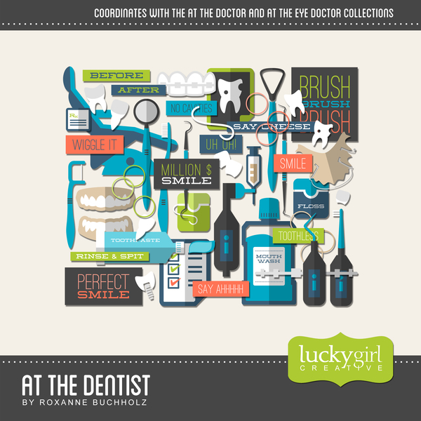 At The Dentist Digital Art - Digital Scrapbooking Kits