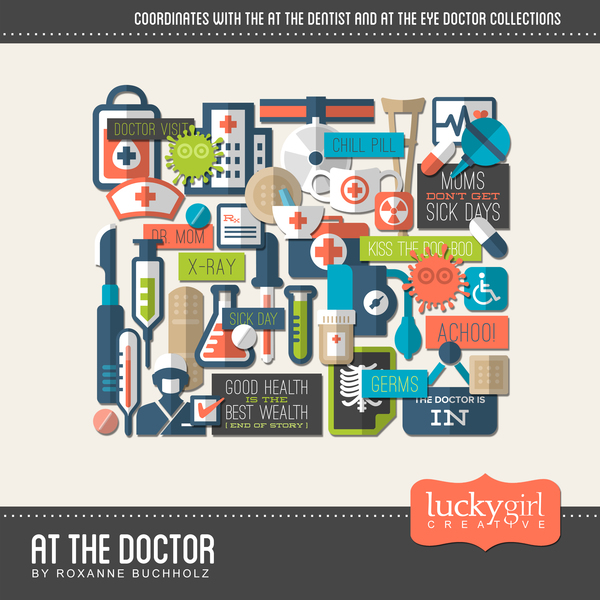 At The Doctor Digital Art - Digital Scrapbooking Kits