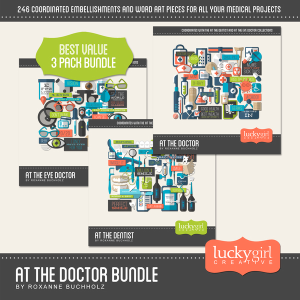 At The Doctor Bundle Digital Art - Digital Scrapbooking Kits