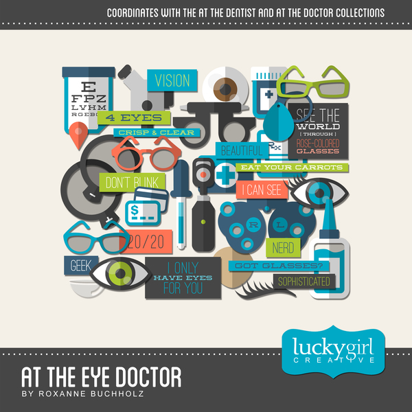At The Eye Doctor Digital Art - Digital Scrapbooking Kits