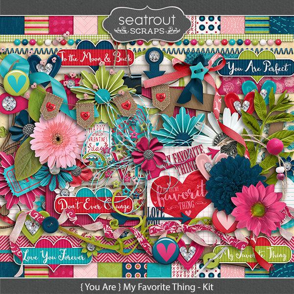 {you Are} My Favorite Thing Kit Digital Art - Digital Scrapbooking Kits