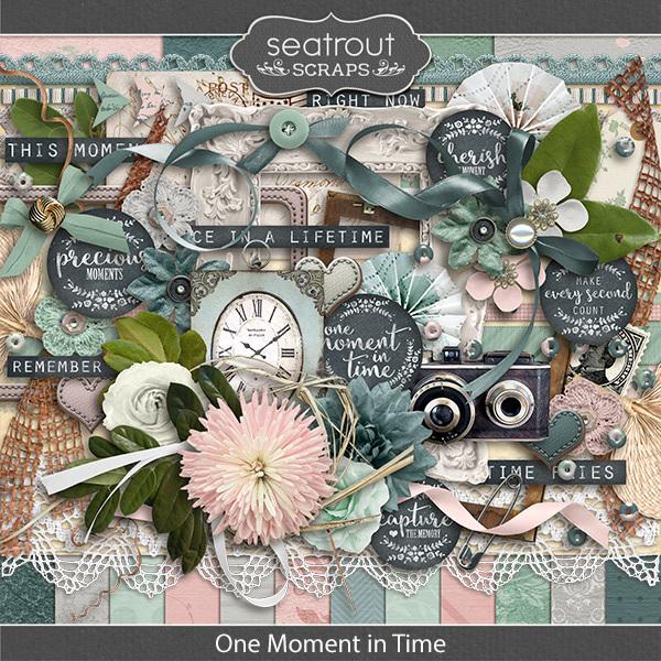 One Moment In Time Digital Art - Digital Scrapbooking Kits
