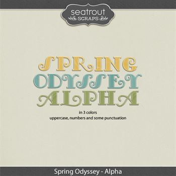 Spring Odyssey Alphas Digital Art - Digital Scrapbooking Kits