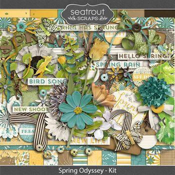 Spring Odyssey Kit Digital Art - Digital Scrapbooking Kits