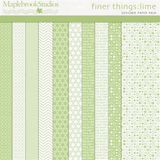 Finer Things No. 01 Lime Paper Pack