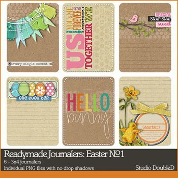Readymade Journalers Easter No. 01 Digital Art - Digital Scrapbooking Kits