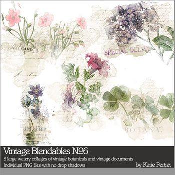 Vintage Blendables No. 06 Digital Art - Digital Scrapbooking Kits
