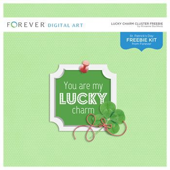 Lucky Charm Cluster Freebie Digital Art - Digital Scrapbooking Kits