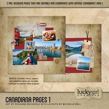 Canadiana Pages 1 Digital Art - Digital Scrapbooking Kits