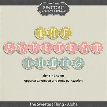 The Sweetest Thing Alphas Digital Art - Digital Scrapbooking Kits