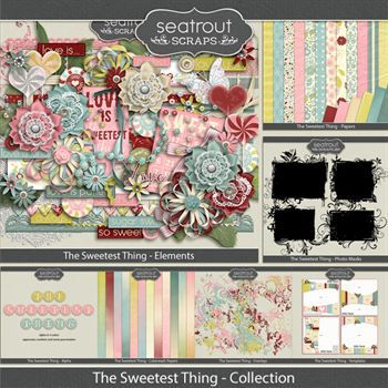 The Sweetest Thing Bundled Collection Digital Art - Digital Scrapbooking Kits