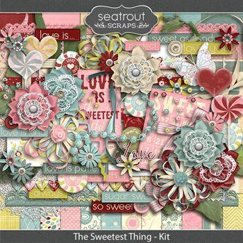 The Sweetest Thing Kit Digital Art - Digital Scrapbooking Kits