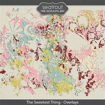 The Sweetest Thing Overlays Digital Art - Digital Scrapbooking Kits
