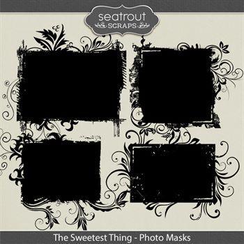 The Sweetest Thing Photo Masks Digital Art - Digital Scrapbooking Kits