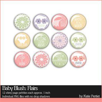 Baby Blush Flairs Digital Art - Digital Scrapbooking Kits