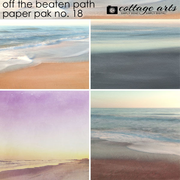 Off The Beaten Path 18 Paper Pak Digital Art - Digital Scrapbooking Kits