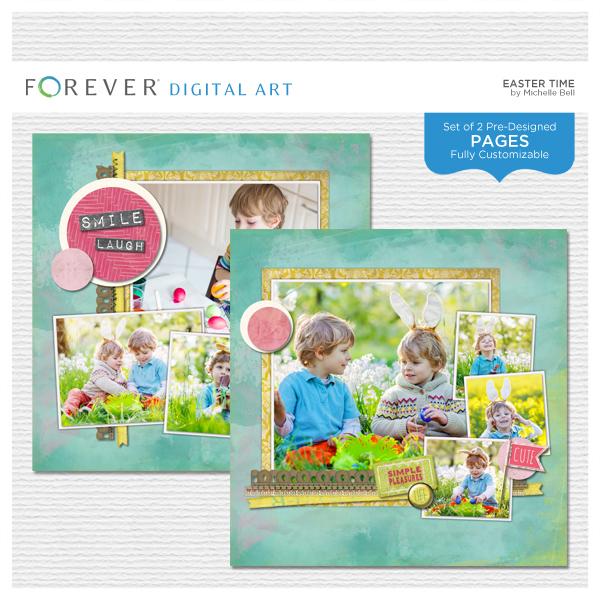 Easter Time Digital Art - Digital Scrapbooking Kits