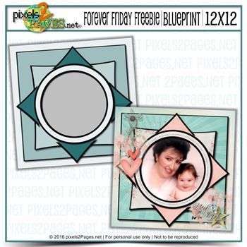 Friday Freebie Blueprint Mommy And Me Digital Art - Digital Scrapbooking Kits