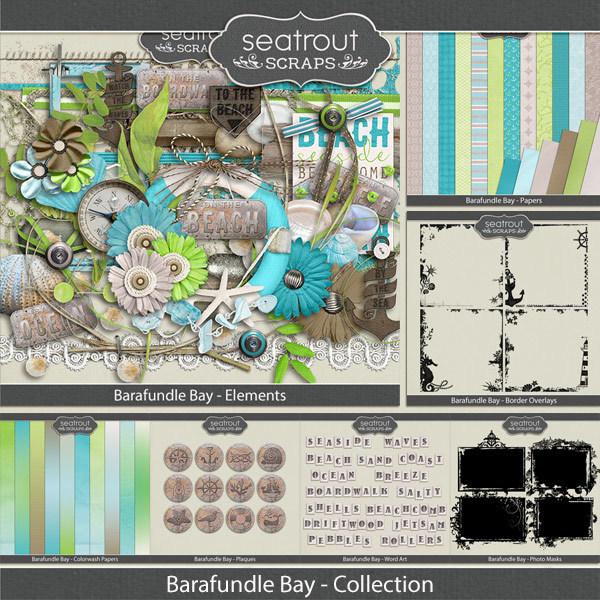 Barafundle Bay Bundled Collection Digital Art - Digital Scrapbooking Kits