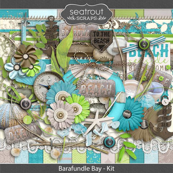 Barafundle Bay Kit Digital Art - Digital Scrapbooking Kits