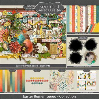 Easter Remembered Collection Digital Art - Digital Scrapbooking Kits
