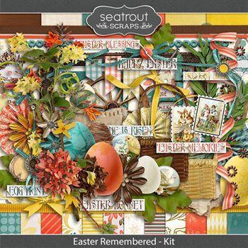 Easter Remembered Kit Digital Art - Digital Scrapbooking Kits