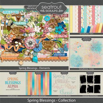 Spring Blessings Bundled Collection Digital Art - Digital Scrapbooking Kits