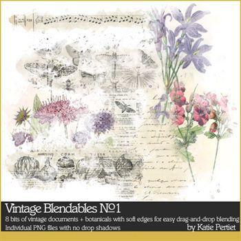 Vintage Blendables No. 01 Digital Art - Digital Scrapbooking Kits