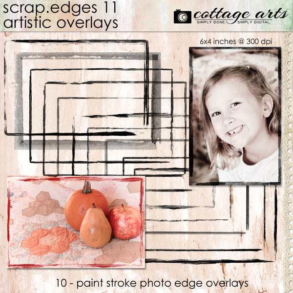 Scrap.edges11 - Artistic Overlays Digital Art - Digital Scrapbooking Kits