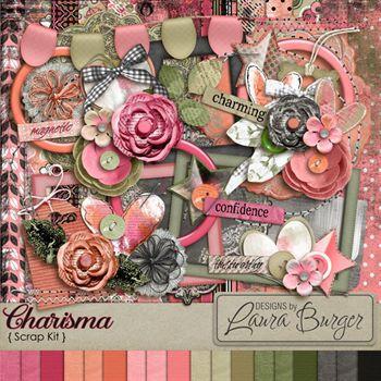 Charisma Scrap Kit Digital Art - Digital Scrapbooking Kits