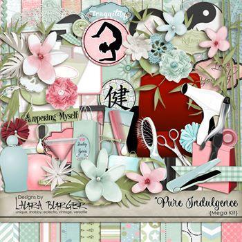 Pure Indulgence Scrap Kit Digital Art - Digital Scrapbooking Kits