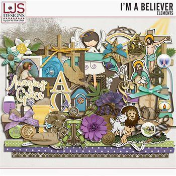 I'm A Believer - Elements Digital Art - Digital Scrapbooking Kits