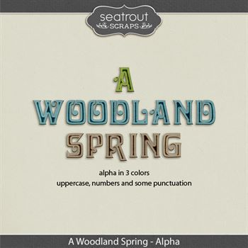 A Woodland Spring Alphas Digital Art - Digital Scrapbooking Kits