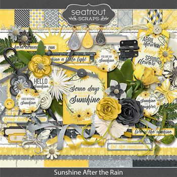 Sunshine After The Rain Digital Art - Digital Scrapbooking Kits