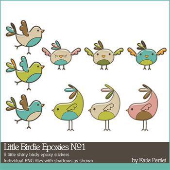 Little Birdie Epoxies No. 01 Digital Art - Digital Scrapbooking Kits