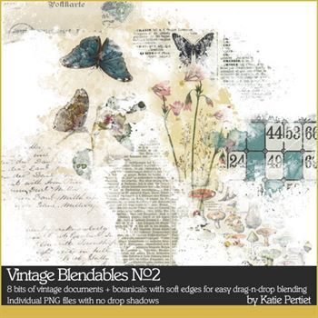 Vintage Blendables No. 02 Digital Art - Digital Scrapbooking Kits