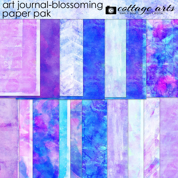 Art Journal - Blossoming Paper Pak Digital Art - Digital Scrapbooking Kits