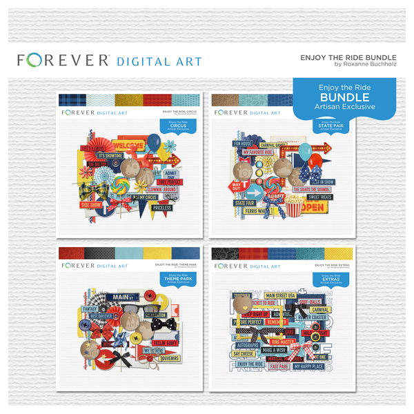 Enjoy The Ride Bundle Digital Art - Digital Scrapbooking Kits