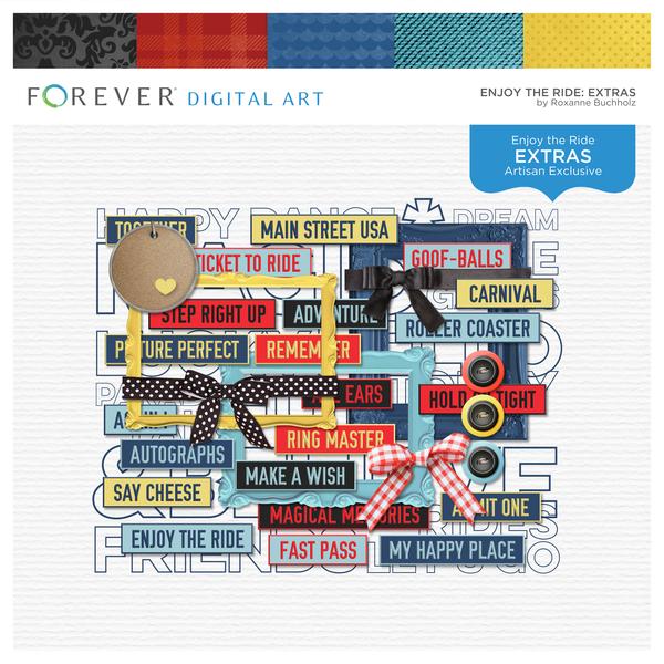 Enjoy The Ride Extras Digital Art - Digital Scrapbooking Kits