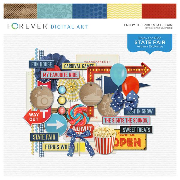 Enjoy The Ride State Fair Digital Art - Digital Scrapbooking Kits