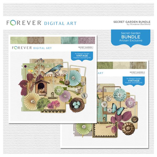 Secret Garden Bundle Digital Art - Digital Scrapbooking Kits