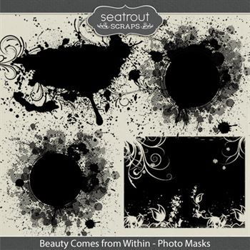 Beauty Comes From Within Photo Masks Digital Art - Digital Scrapbooking Kits