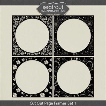 Cut Out Page Frames Set 1 Digital Art - Digital Scrapbooking Kits