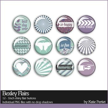 Bexley Flairs Digital Art - Digital Scrapbooking Kits