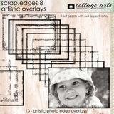 Scrap.edges 8 Artistic Overlays