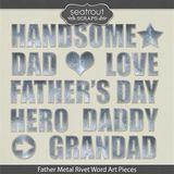 Father Metal Rivet Word Art Pieces