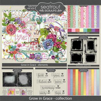 Grow In Grace Bundled Collection Digital Art - Digital Scrapbooking Kits